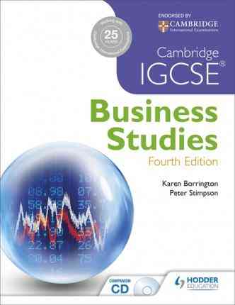 Cambridge IGCSE Business Studies Fourth Edition For Class 9 Cambridge
