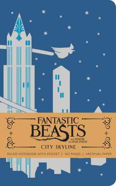 Fantastic Beasts And Where To Find Them : City Skyline Hardcover Ruled Pocket Journal