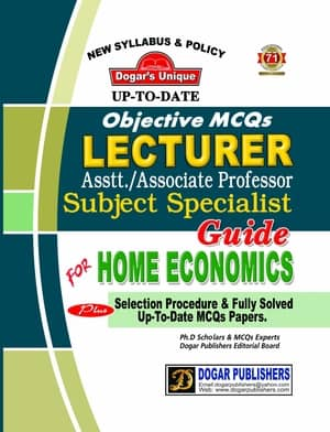 LECTURER HOME ECONOMICS Guide By Dogars