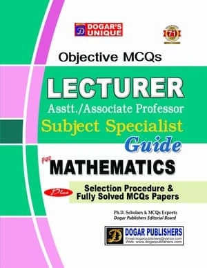 LECTURER MATHEMATICS Guide By Dogars