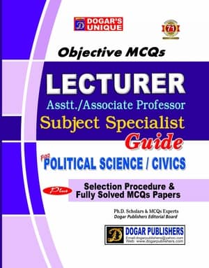 LECTURER POLITICAL SCIENCE And CIVICS Guide By Dogars