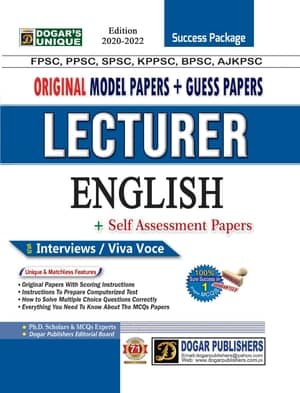 Lecturer English Guess Papers And Model Papers