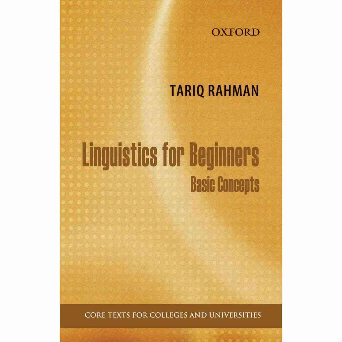 Linguistics For Beginners: Basic Concepts