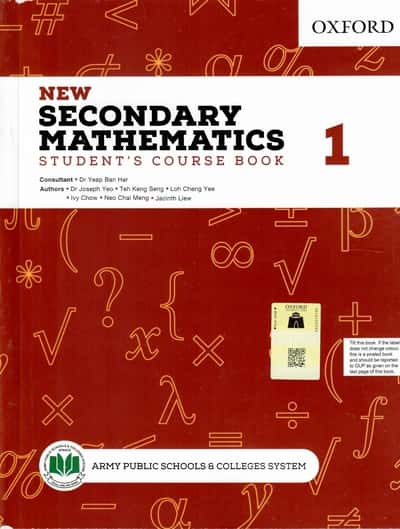 New Secondary Mathematics Book 1