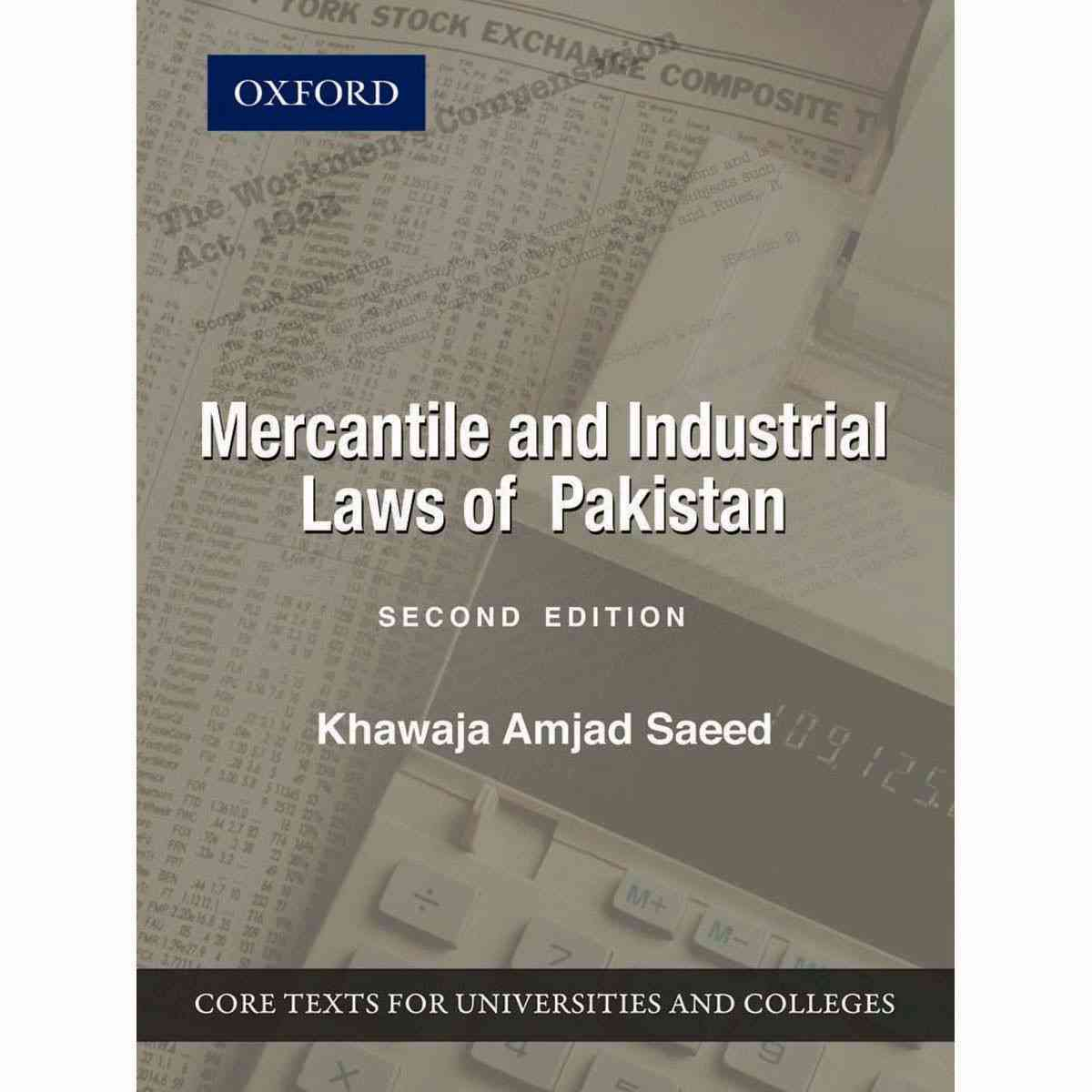 Oxford Books Mercantile And Industrial Laws Of Pakistan Second Edition