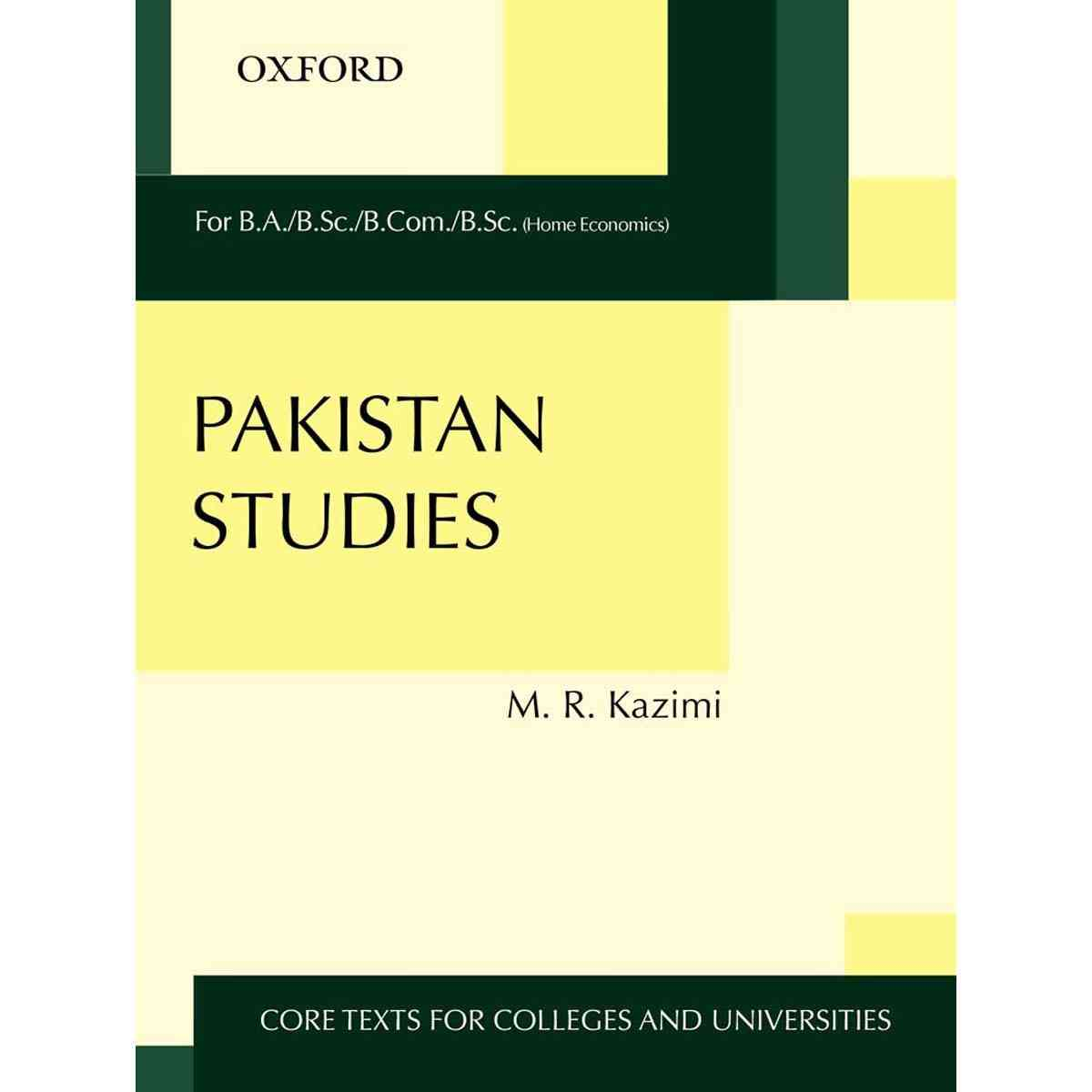 Oxford Books Pakistan Studies By Muhammad Reza Kazimi