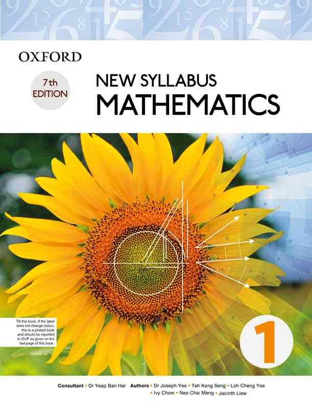 Oxford New Syllabus Mathematics Book 1 7th Edition For Class 9