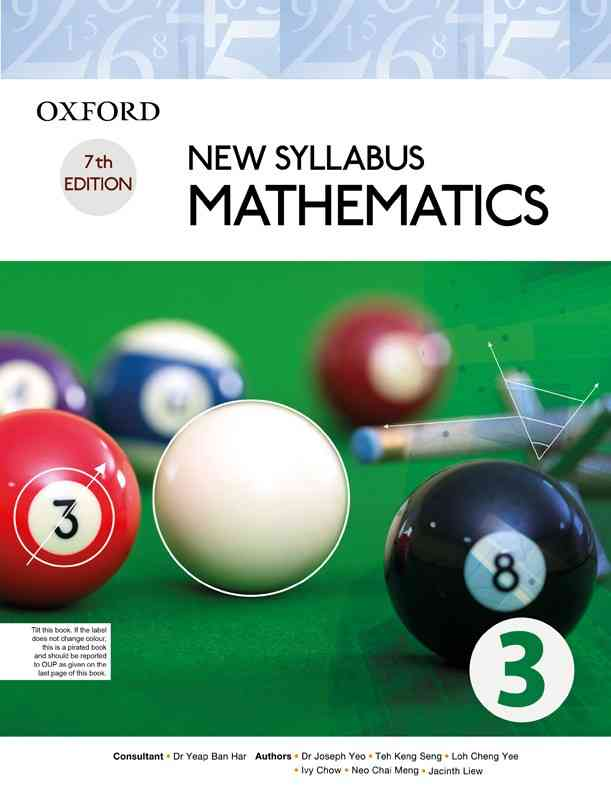 Oxford New Syllabus Mathematics Book 3 New Edition For Class 10