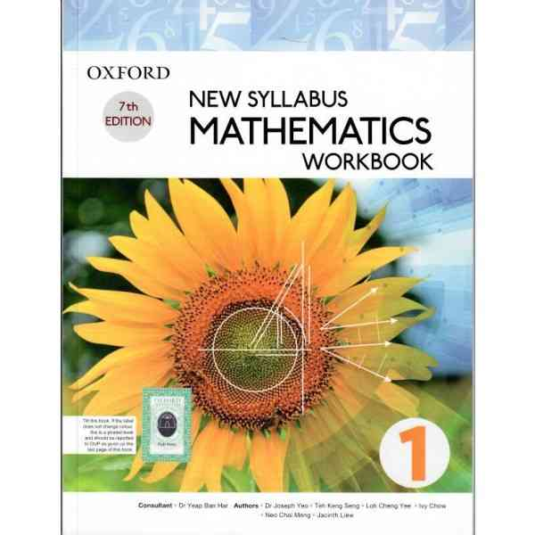 Oxford New Syllabus Mathematics Workbook 1 7th Edition For 7th Class