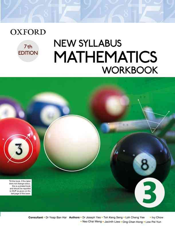 Oxford New Syllabus Mathematics Workbook 3 For Class 10O Level