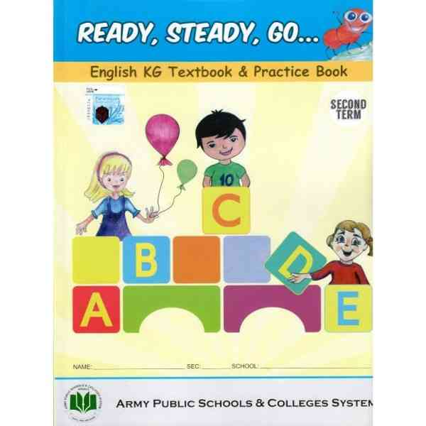 Ready Steady Go English KG Textbook and Practice Book 2nd Term