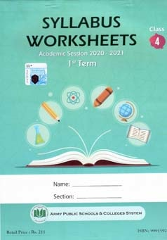 APS Syllabus Worksheet Class 4 1st Term