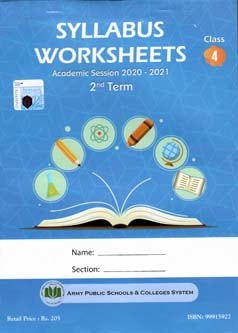 APS Syllabus Worksheet Class 4 2nd Term