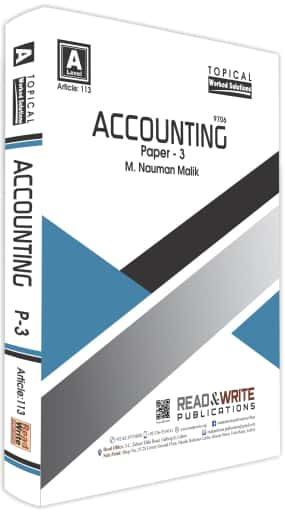 Accounting A2 Level Paper 3 Topical Worked Solutions