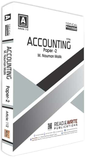 Accounting AS Level Paper 2 Topical Past Papers
