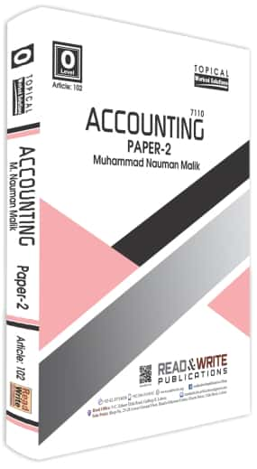 Accounting O Level Paper 2 Topical Worked Solutions