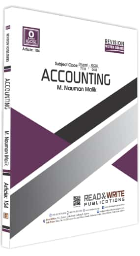 Accounting O Level Revision Notes Series