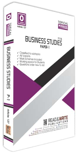 Business Studies O Level Paper 1 Topical Workbook