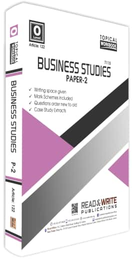 Business Studies O Level Paper 2 Topical Work Book