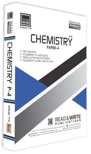 Chemistry IGCSE Paper 4 Topical Workbook