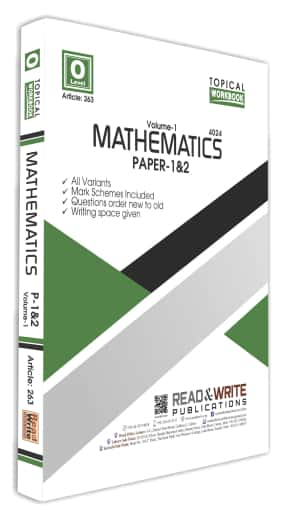 Mathematics O Level Volume 1 Paper 1 and 2 Topical Workbook