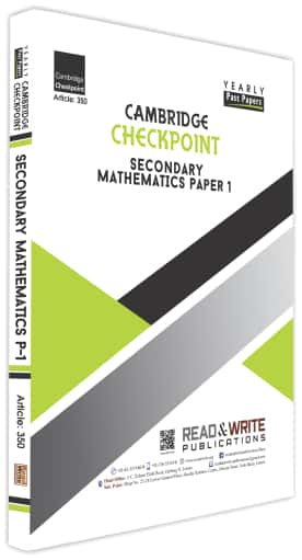 Secondary Math Paper 1 Yearly Past Papers Past Paper